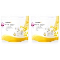 (2 Pack) Medela Quick Clean MicroSteam Bags, 5 ct