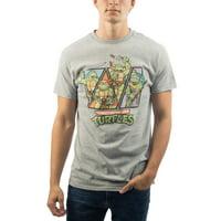 Men's and Big Men's TMNT Mutant Ninja Turtles Character Shots Graphic T-Shirt