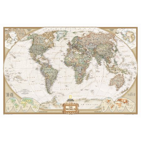 National Geographic Maps World Executive Wall (Laguardia Map)