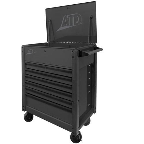 Atd Tools 7 Drawer Black Tool Cart
