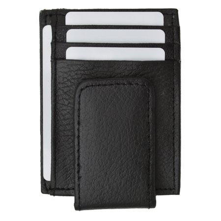 Genuine Leather Money Clip front pocket wallet with magnet clip and card ID Case 910E CF (C)