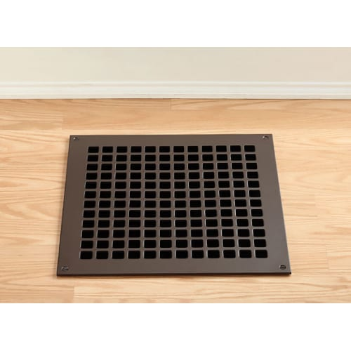 "Reggio Registers G1414-SNH Grid Series 12"" x 12"" Floor Grille without Mounting Holes"