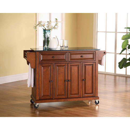 Crosley Furniture Solid Black Granite Top Kitchen Cart