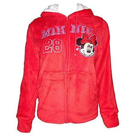 Women's Minnie Mickey Mouse Light Fleece Zip up Hoodie Jacket