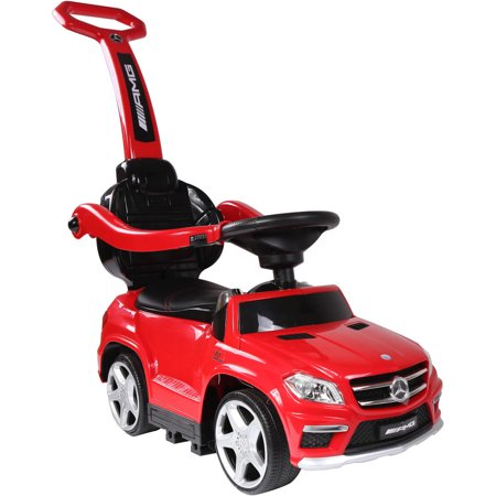 Mercedes Sl500 Convertible - Licensed Mercedes Benz GL63 Kids Convertible Ride On Push Car - Red