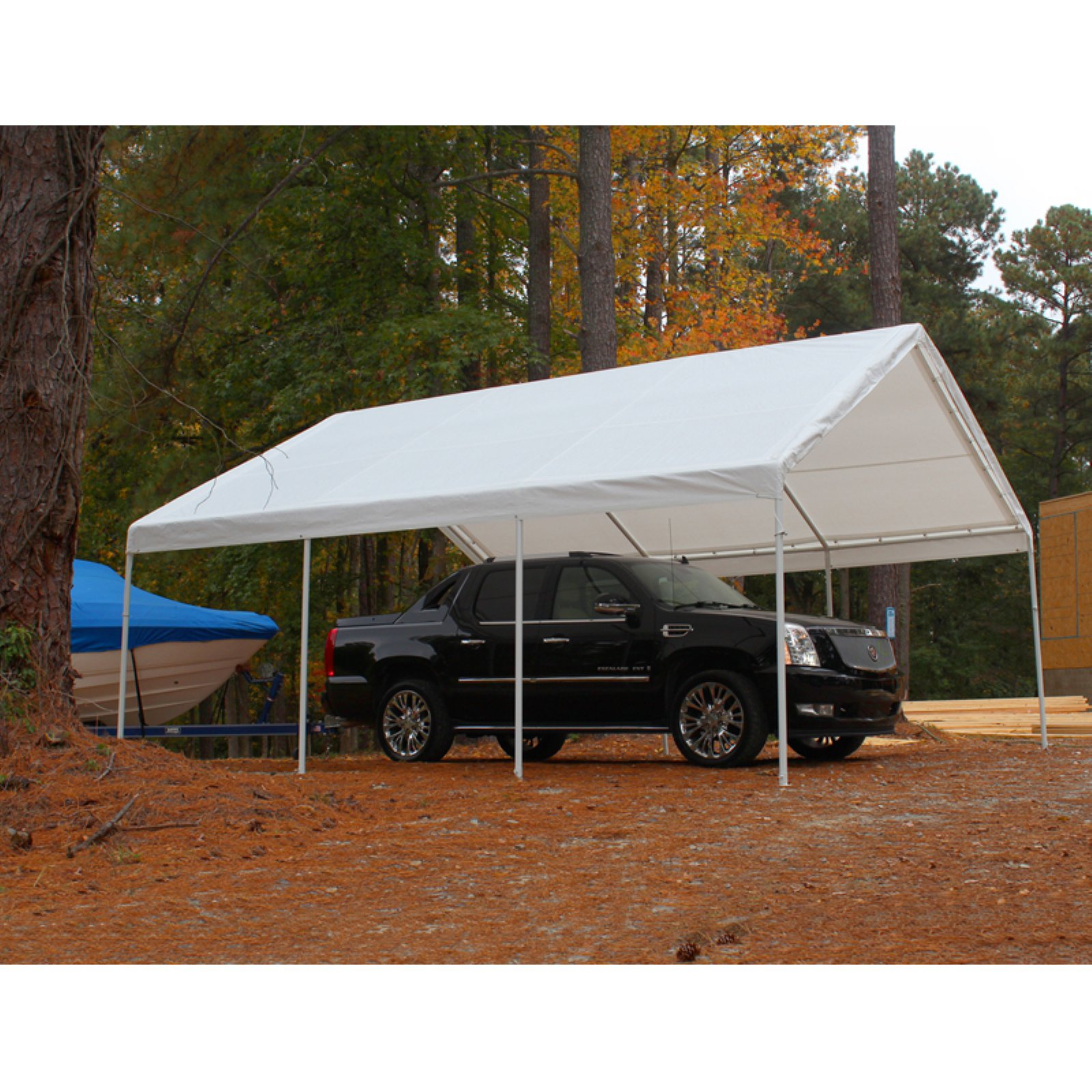 King Canopy Hercules White Canopy Carport - 18 x 20 ft.