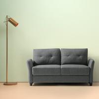 "Zinus Ricardo Contemporary Upholstered 62.2"" Loveseat"