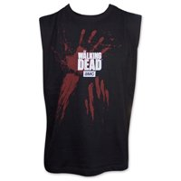 The Walking Dead Bloody Handprints Mens Sleeveless Black T-Shirt | XL