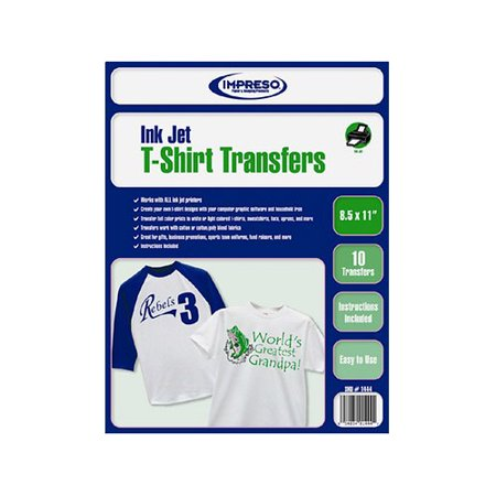 Bisontec Brand T-Shirt Transfer Sheets with Superior Photo Quality (8.5 x 11 inches, 10 sheets /