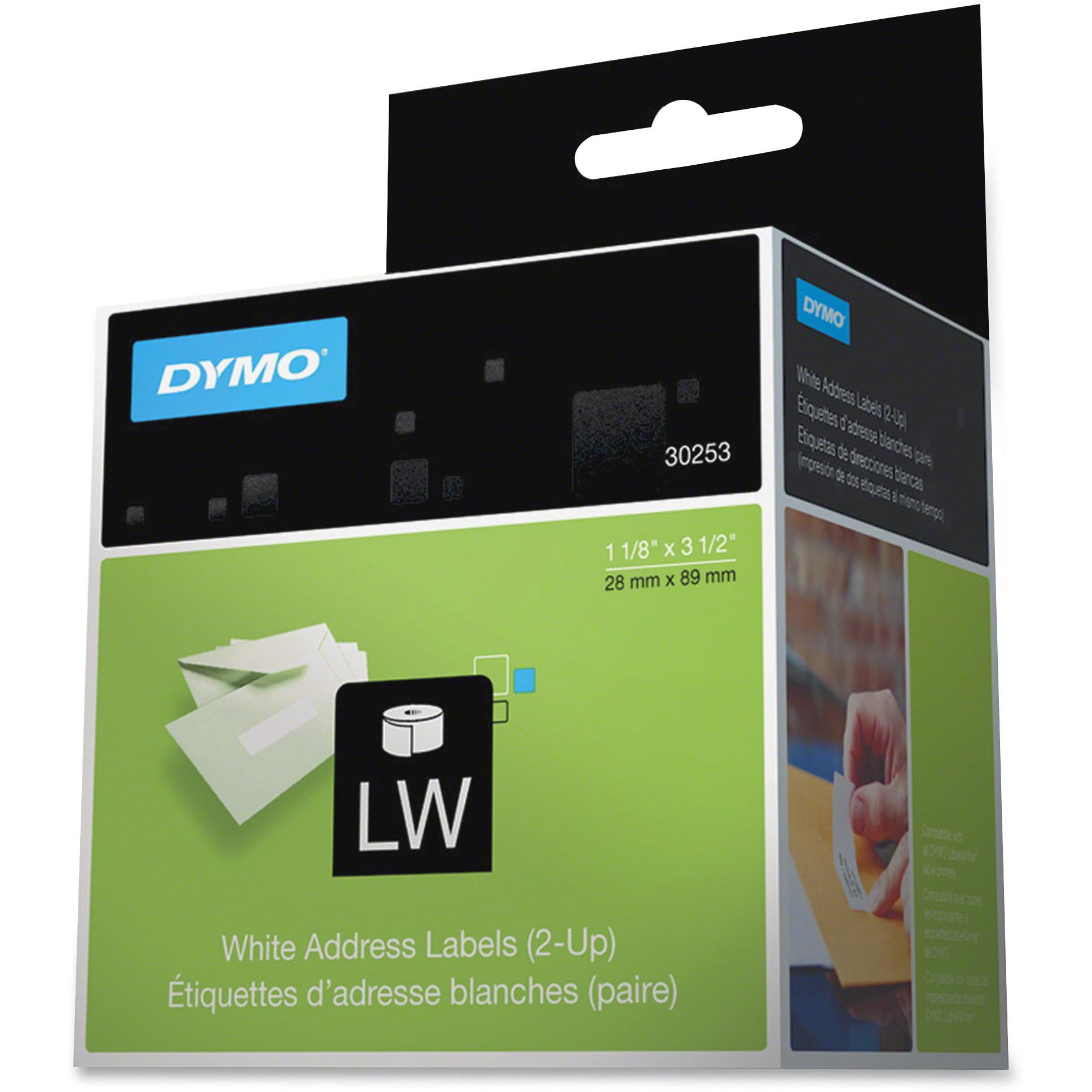 Dymo, DYM30253, Two-up LW Address Labels, 700 / Each, White