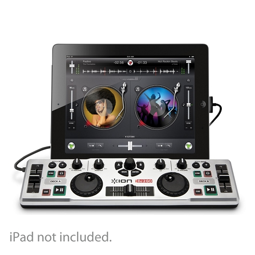 Ion iDJ2Go Portable DJ System for iPad, iPhone & iPod touch w/30-Pin Dock Connector
