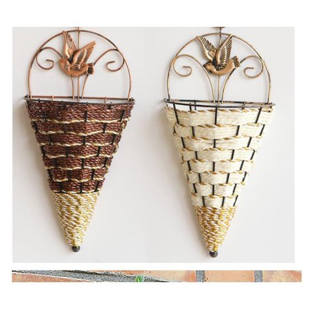 Flower Plant Pot Home Garden Wall Fence Hanging Planter Basket Cone Style Hyacinth Hanging Cone