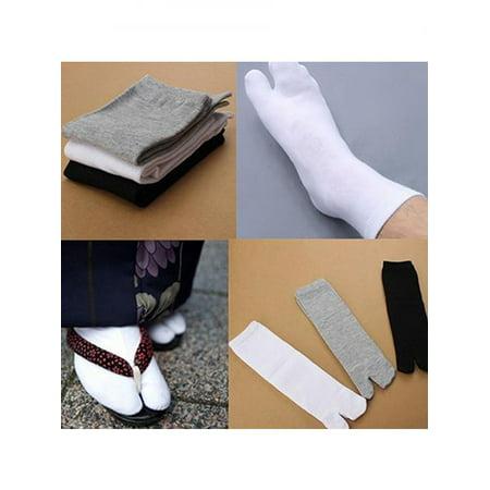 1 Pair Unisex Japanese Kimono Flip Flop Sandal Split Toe Tabi Ninja Geta Socks