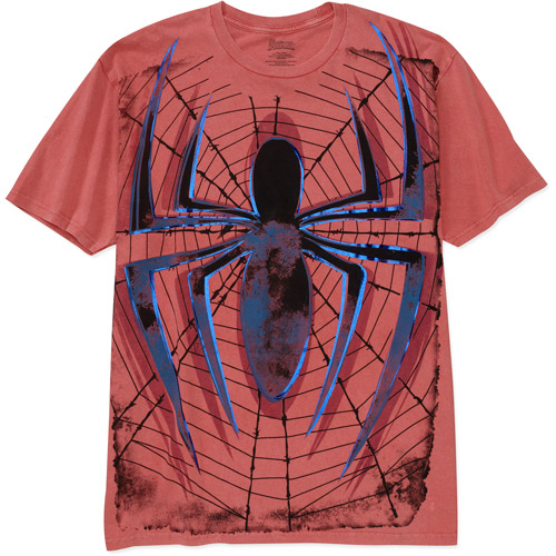 Men's Spiderman on Granite wash Graphic Tee
