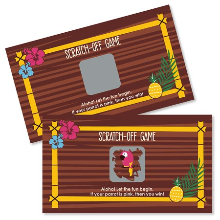 Tiki Bar Party Supplies (Tiki Luau - Tropical Hawaiian Summer Party Scratch Off Cards - 22)
