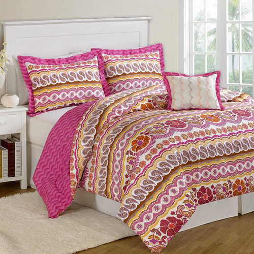 Luxury Home Paisley Dream 8 Piece Bed in a Bag Set