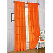 Set of 2 Sheer Voile Window Curtain Panels, 84