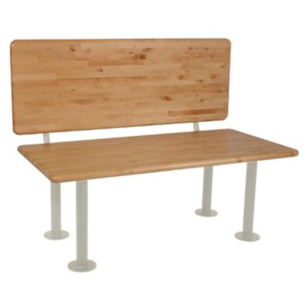 Wisconsin Bench Manufacturer LBSADA2442 24 in. x 42 in. ADA Locker Bench Seat Kits With 18 in. Backrest, Almond 16.25 in. H Pedestals Bench Seats Full Kit