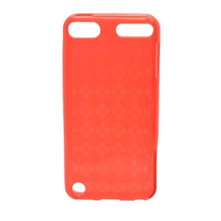 Insten Checker Rubber TPU Transparent Case Cover For Apple iPod Touch 5th Gen,