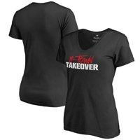 Houston Cougars Women's H-Town Takeover V-Neck T-Shirt - Black
