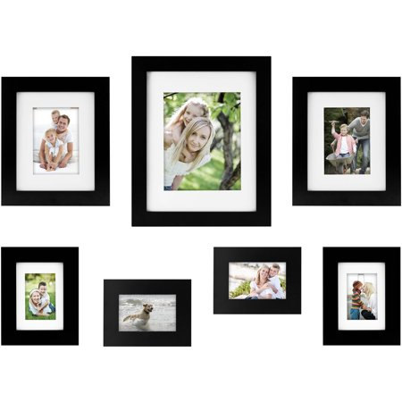 7-Piece Wide Gallery Wall Frame Set, Available in Multiple Colors ()