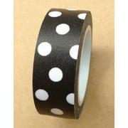 Love My Tapes Washi Tape 15mmX10m-Black W/White Polka Dots