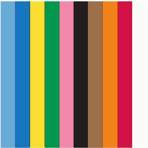 "School Smart Heavyweight Construction Paper, 12"" x 18"", 50 Sheets, Available in Multiple Colors, 3 Pack"