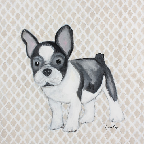 Judith Raye Paintings LLC Puppy French Bulldog by Judith Raye Painting Print on Canvas
