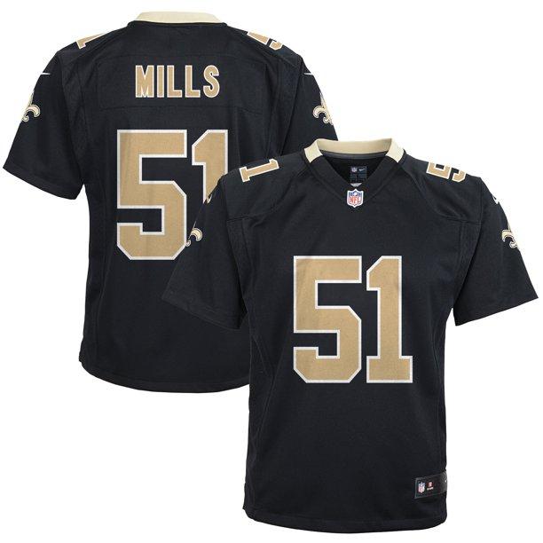 Sam Mills New Orleans Saints Nike Youth Retired Game Jersey - Black