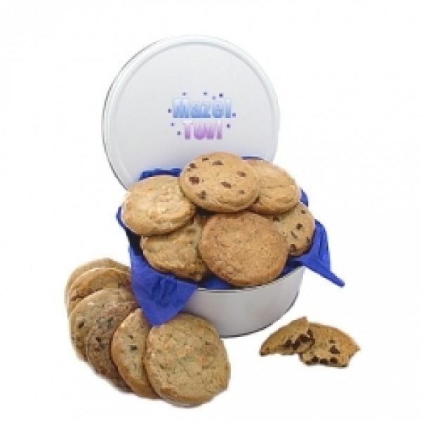 Mazel Tov 3lb Cookie Gift Tin 12 Gourmet Cookies by