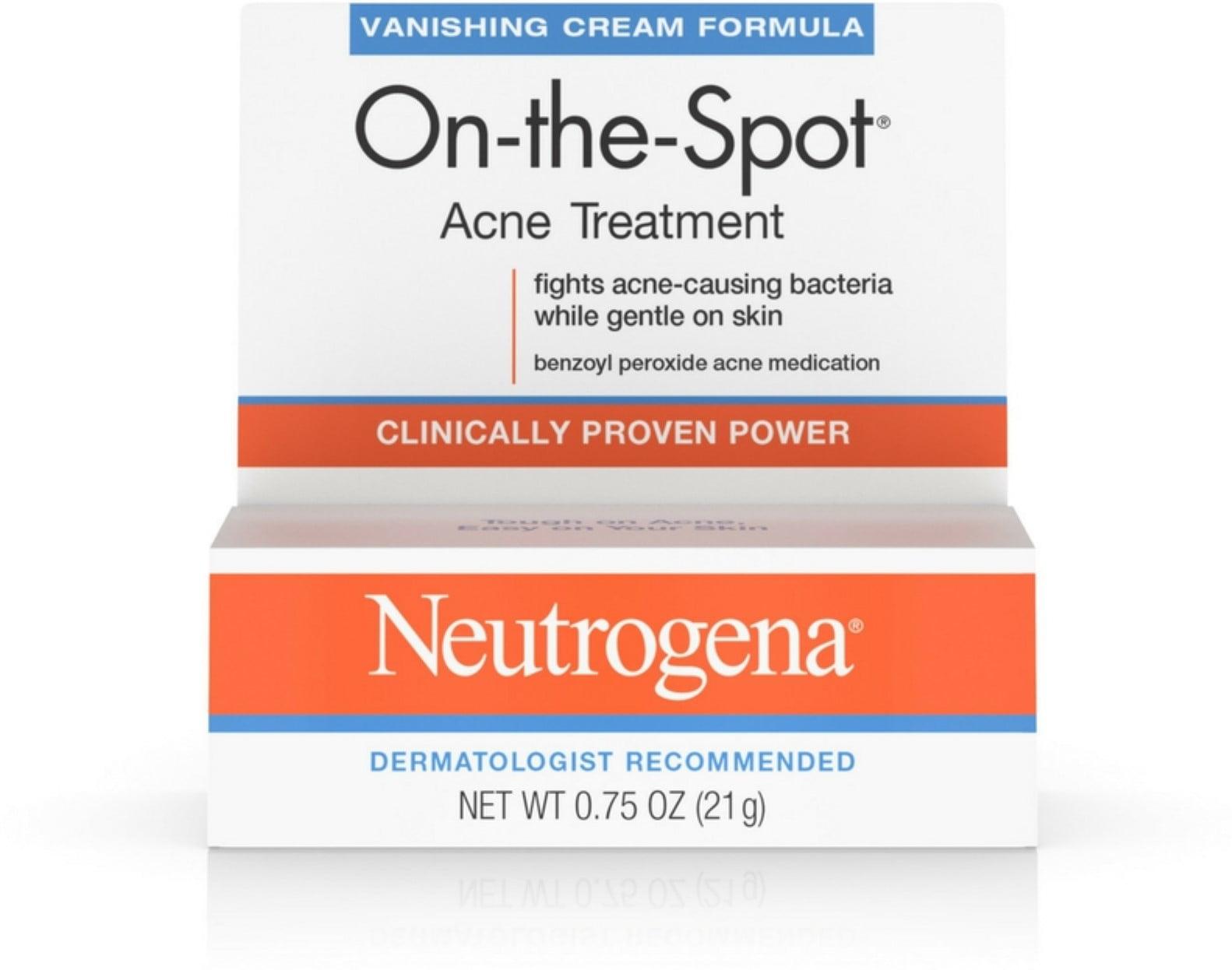 6 Pack Neutrogena On The Spot Acne Treatment Vanishing Cream