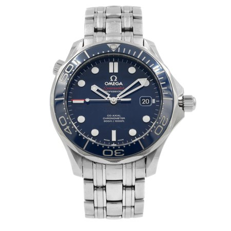Omega Seamaster 212.30.41.20.03.001 Blue on Blue Steel Automatic Mens Watch