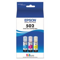 Epson 502 EcoTank Color Combo Pack Auto-Stop Ink Bottles