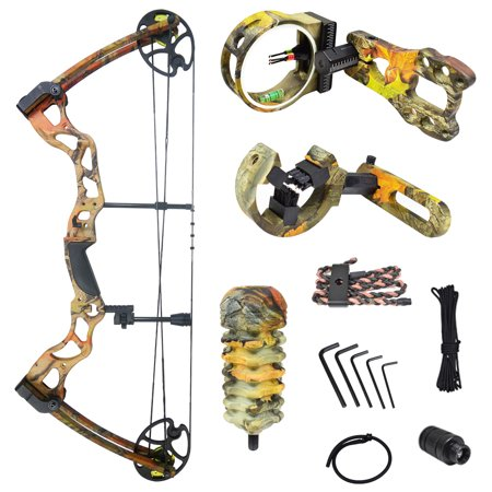 iGlow 40-70 lbs Black / Camouflage Camo Archery Hunting Compound Bow 175 150 60 55 30 lb Crossbow