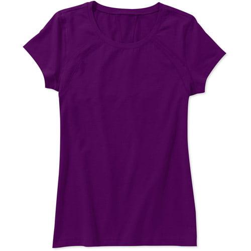 Danskin Now Womens Mesh Detail Short Sleeve Active T-Shirt