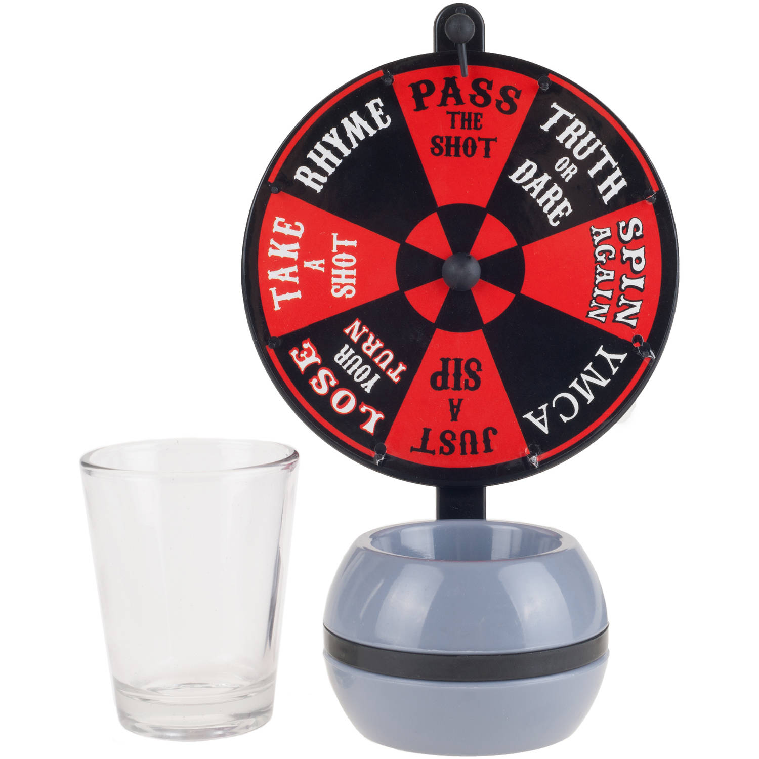 Hey! Play! Spin-the-Wheel Shot Glass Drinking Game