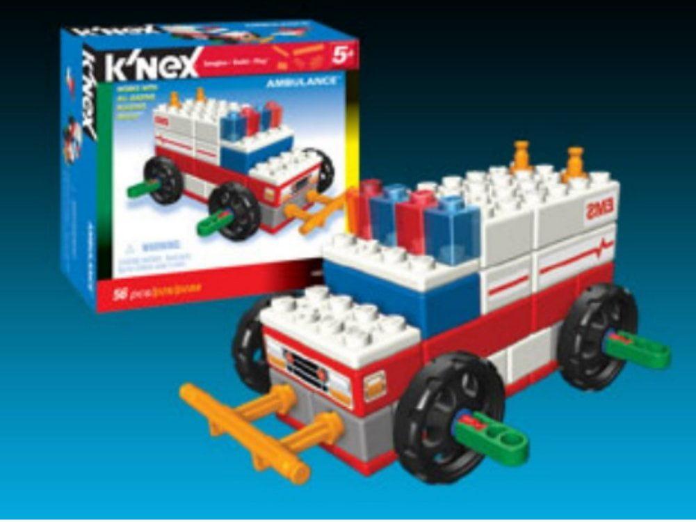 KNEX Ambulance Building Set 56 Knex Bricks Pieces by K'NEX