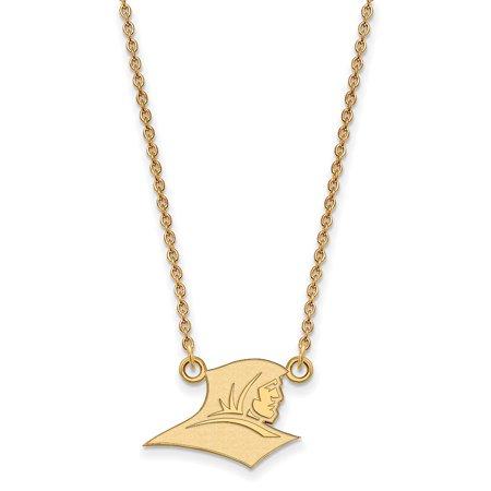 Logoart Sterling Silver W Gp Providence College Small Pendant W Necklace Gp007prc 18