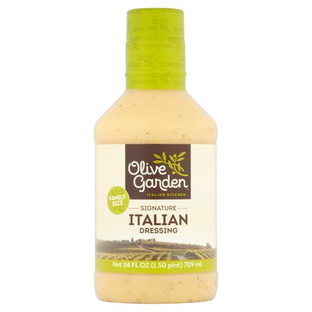 (2 Pack) Olive Garden Italian Kitchen Signature Italian Dressing, 24 Fl - Farms Zesty Italian