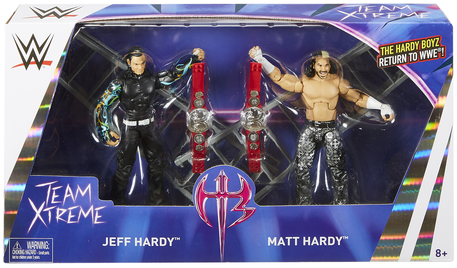Hardy Boyz (Matt Hardy & Jeff Hardy) WWE Epic Moments Toy Wrestling Action Figures by Mattel