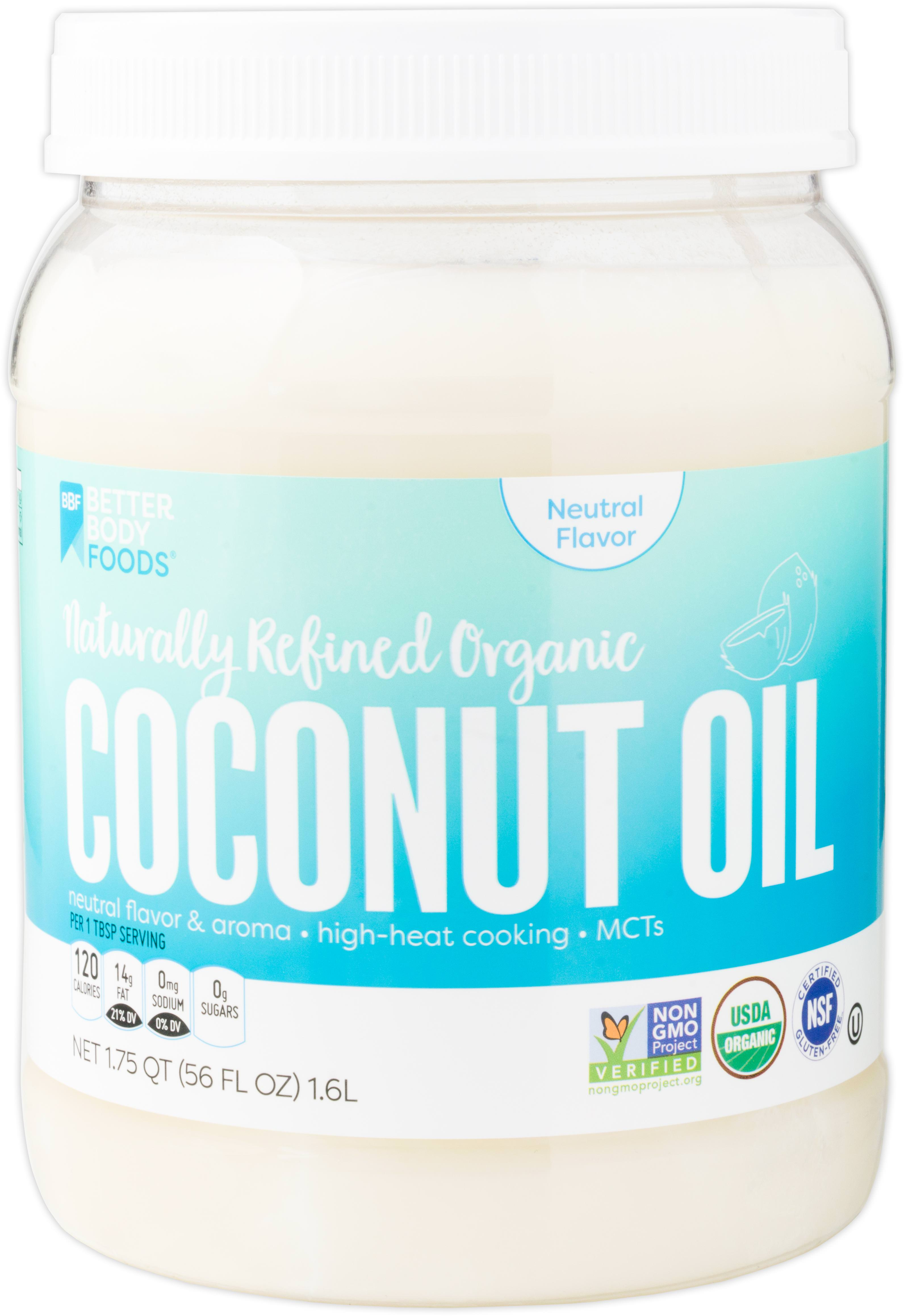 BetterBody Foods Naturally Refined Organic Coconut Oil, 56 Oz