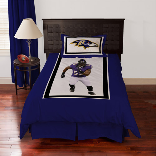 Biggshots Baltimore Ravens Ray Lewis Bedding Comforter Set