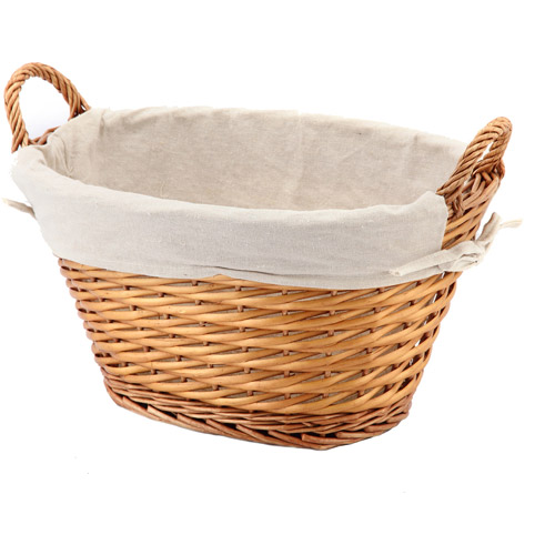 Mainstays Large Oval Light Willow Basket