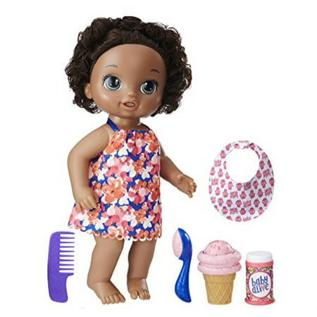 Baby Alive Magical Scoops Baby Doll African American, Ages 3 and up