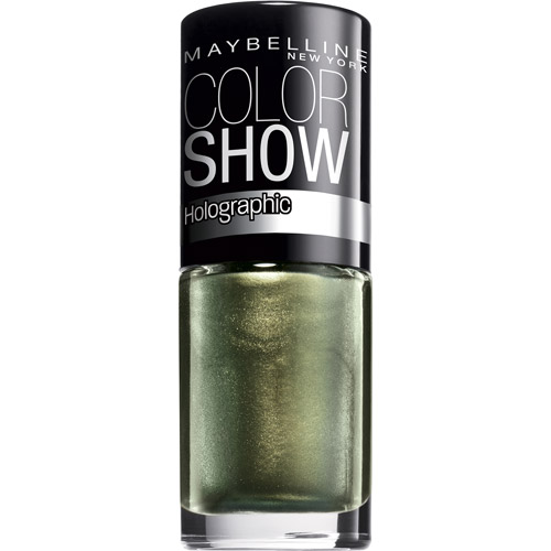 Maybelline Color Show Holographic Nail Lacquer, 0.23 fl oz, Mystic Green