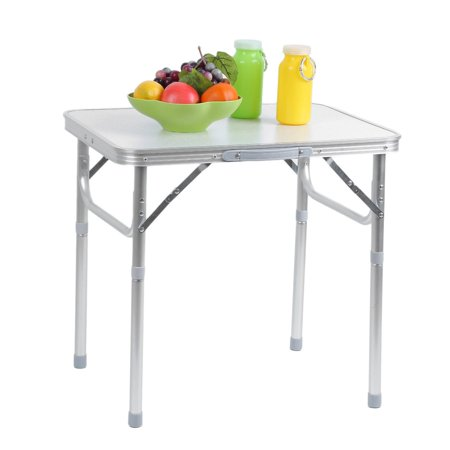 UBesGoo Portable Small Size Folding Aluminum Height Adjustable Table Indoor Outdoor Picnic Party Dining Camping Table ()