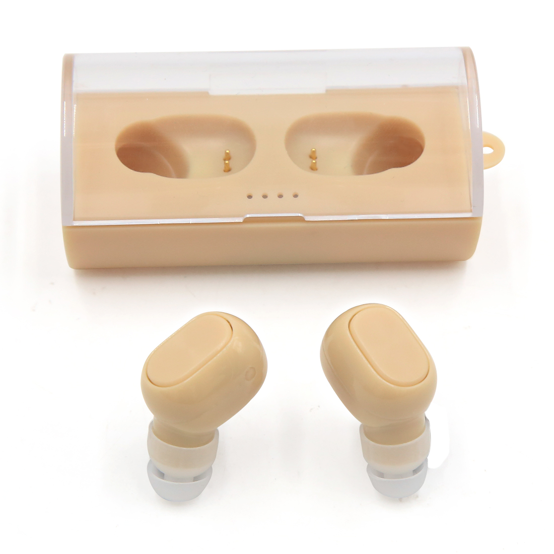 2017 NEWEST Mini Wireless Earbuds Bluetooth V4.1 Stereo Music Headphones with lightweight Charge Case (Light Yellow)
