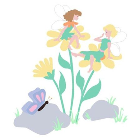 Elephants on the Wall 5-1253 Daisy Fairies - Paint It Yourself