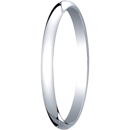 Womens Platinum, 2.0mm Traditional Dome Oval Wedding Band