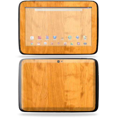 "Mightyskins Protective Skin Decal Cover for Samsung Google Nexus 10 Tablet with 10"" screen wrap sticker skins Birch Wood Grain"